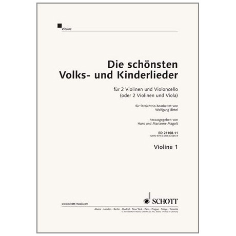 Magolt: Die schönsten Volks- und Kinderlieder - Trioheft