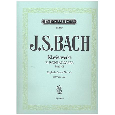 Bach, J. S.: Englische Suiten Nr. 1-3 BWV 806-808
