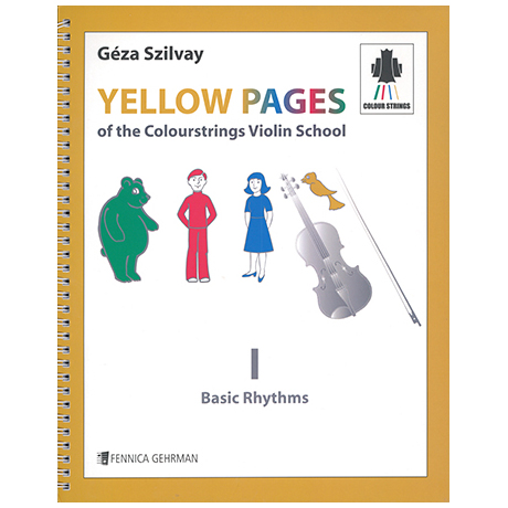 Yellow Pages Of the Colourstrings Violin School 1 - Basic Rhythms