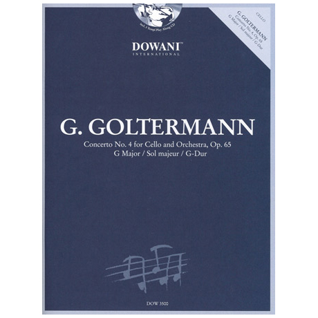 Goltermann, G.: Konzert Nr. 4 op. 65 in G-Dur (+2 CD's)