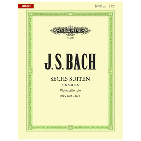Bach, J.S.: 6 Cellosuiten (BWV 1007 - 1012) Urtext