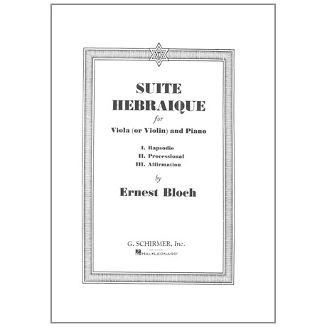 Bloch: Suite Hebraique