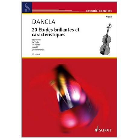 Dancla, J. B. Ch.: 20 Etudes brillantes et caractéristiques Op. 73