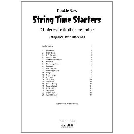 Blackwell, K. & D.: String Time Starters – Kontrabass (+Online Audio)