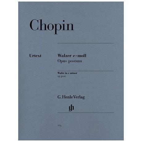 Chopin, F.: Walzer e-Moll Op. post.