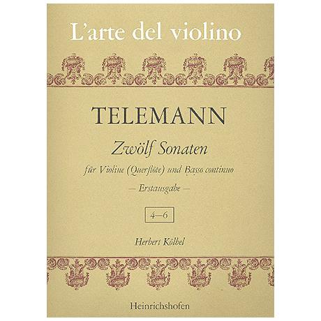 Telemann, G.P.: 12 Sonaten Band 2 (Nr.4-6)