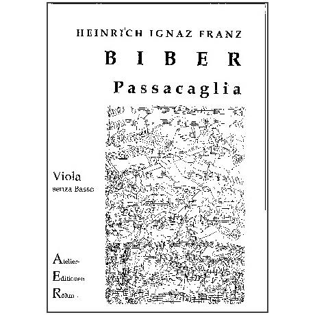 Biber, H.F.I.: Passacaglia für Violine solo