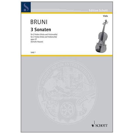 Bruni, A. B.: Drei Sonaten Op. 27