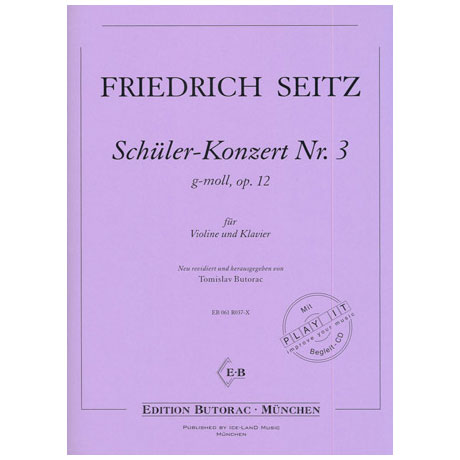 Seitz, F.: Schülerkonzert Nr. 3 g-moll op. 12 (+CD)