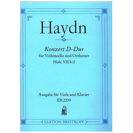 Haydn, J.: Konzert für Cello + Orch. D-Dur, Hob: VIIb:2