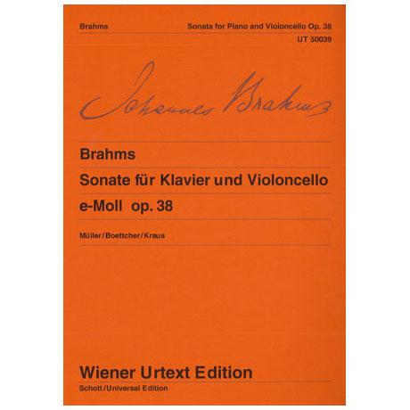 Brahms, J.: Sonate e-Moll, op. 38