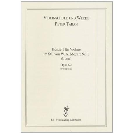 Taban, P.: Op. 6/e: Konzert im Stil von W.A. Mozart Nr. 1