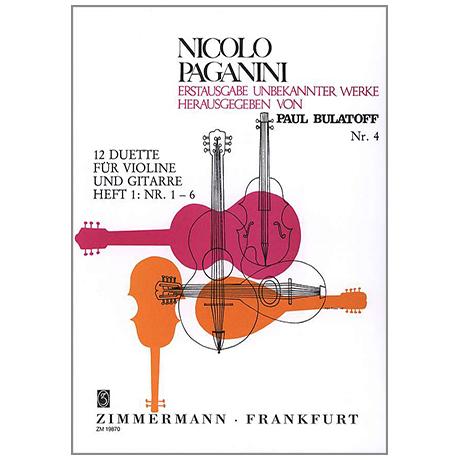 Paganini, N.: Zwölf Duette – Band 1
