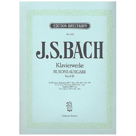 Bach, J. S.: Kleine Präludien, Fughetta c-Moll, Vier Duette