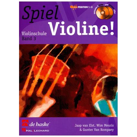 Elst, J.: Spiel Violine Band 3 (+ 2 CD's)