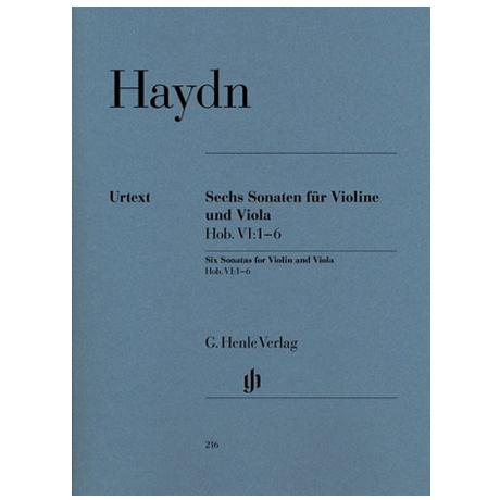 Haydn, J.: 6 Violasonaten VI: 1-6