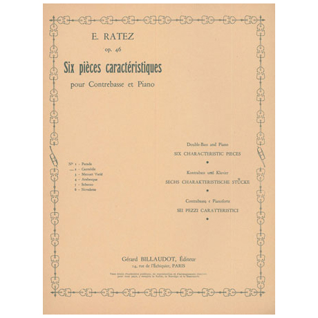 Ratez, E.: 6 Pièces Caractéristiques Op. 46/2 Cantabile