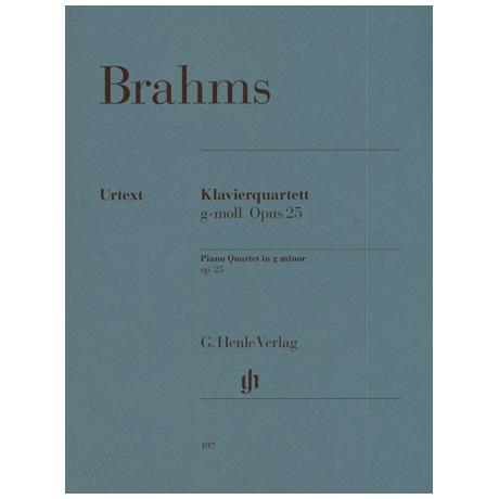 Brahms, J.: Klavierquartett g-Moll Op. 25 Urtext