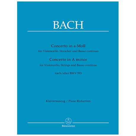Bach, J.S.: Concerto in a-Moll nach BWV593