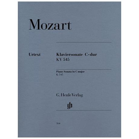 Mozart, W. A.: Klaviersonate C-Dur KV 545 (Facile)