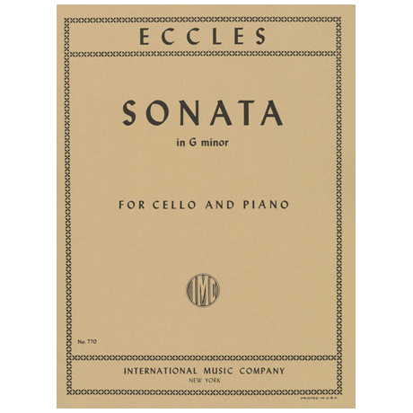 Eccles, H.: Sonate in g-moll