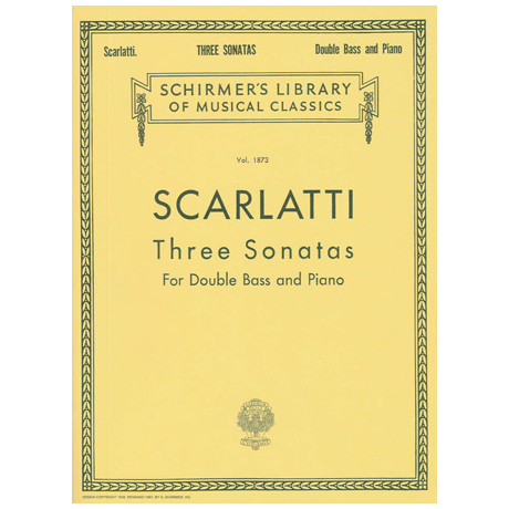 Scarlatti, A.: 3 Kontrabasssonaten