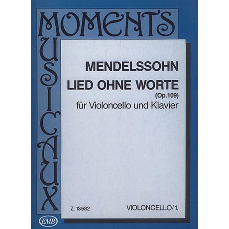 Mendelssohn Bartholdy, F.: Lied ohne Worte D-Dur Op. 109