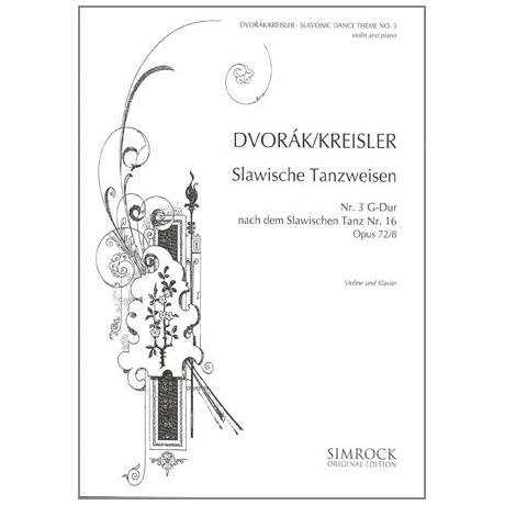 Dvořák, A.: Slawische Tanzweisen Nr. 3 G-Dur