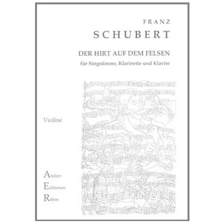 Schubert, F.: Der Hirt auf dem Felsen