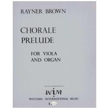 Brown, R.: Chorale Prelude