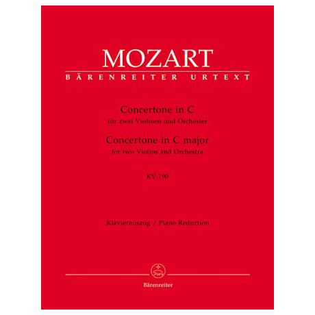 Mozart, W.A.: Concertone in C-Dur KV 190 (166b, KV 6:186)