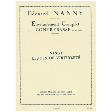 Nanny, E.: 20 Etudes De Virtuosite