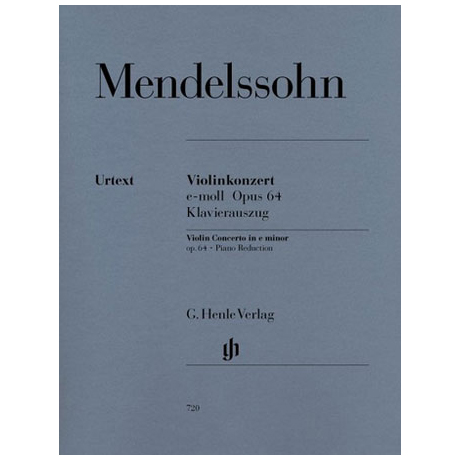 Mendelssohn Bartholdy, F.: Violinkonzert e-Moll Op. 64 Urtext