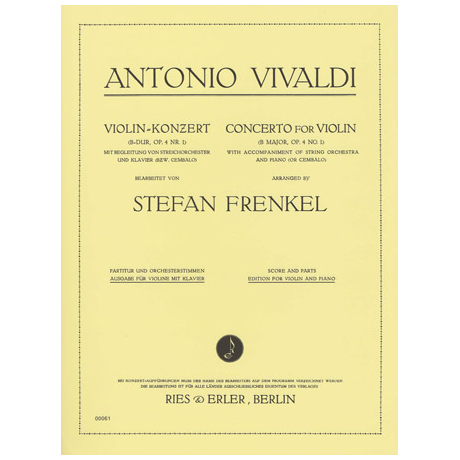 Vivaldi, A.: Violinkonzert B-Dur op.4 Nr.1