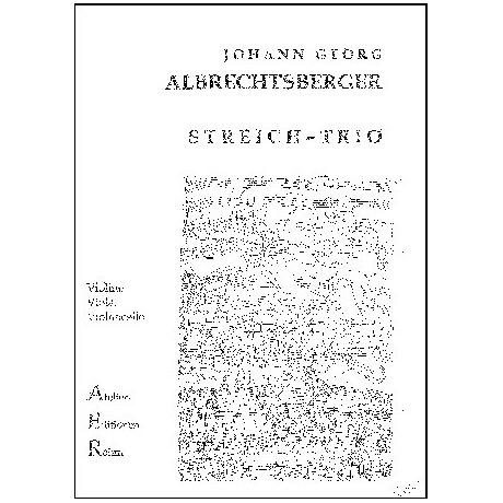 Albrechtsberger, J.G.: Streichtrio in F - Dur op.9/3