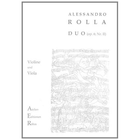 Rolla, A: Duo op.6 Nr.2