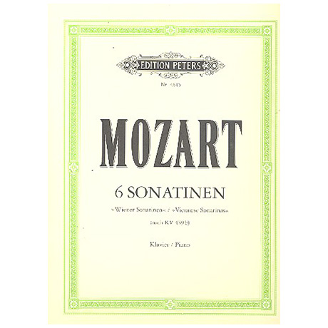 Mozart, W. A.: 6 (Wiener) Sonatinen