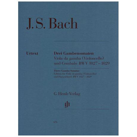 Bach, J.S.: Sonaten für Cello (Gambe) und Cembalo G-, D-Dur, g-Moll, Urtext