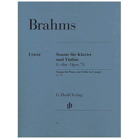 Brahms, J.: Sonate G-Dur Op. 78