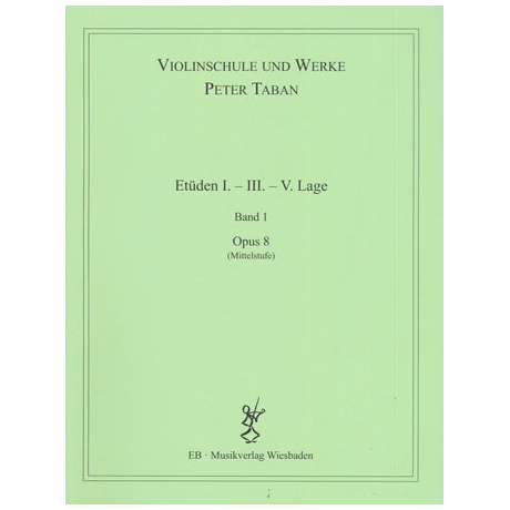 Taban, P.: Op. 8: Etüden I. - III. - V. Lage