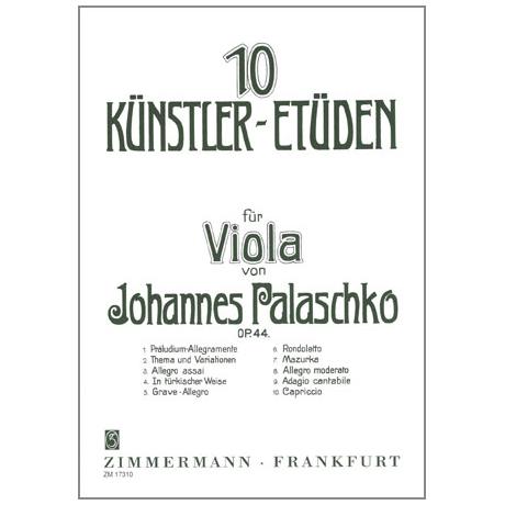 Palaschko, J.: 10 Künstleretüden Op. 44