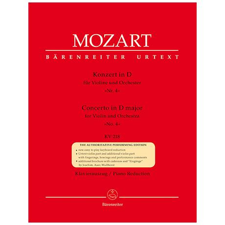 Mozart, W.A.: Violinkonzert KV218 D-Dur