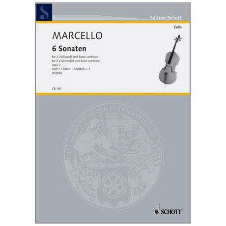 Marcello, B.: 6 Sonaten Band 1 Nr. 1-3