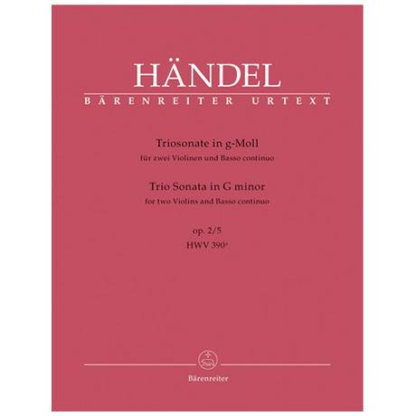 Händel, G.F.: Triosonate g-Moll Op.2 Nr.5 HWV 390a