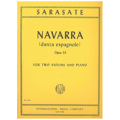 Sarasate, P. d.: Navarra — Danza Espagnole Op. 33