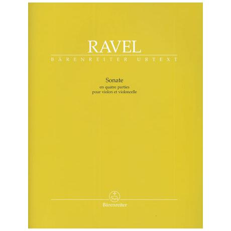 Ravel, M.: Sonate in vier Teilen - »en quatre parties«