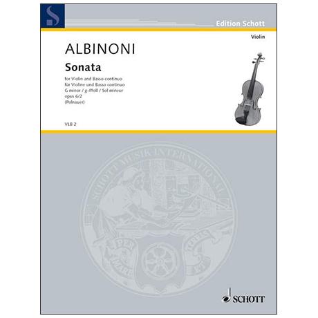 Albinoni, T.: Violinsonate Op. 6/2 g-Moll