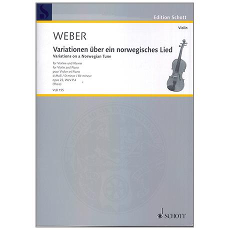 Weber, C. M. v.: Variationen über ein norwegisches Lied Op. 22 d-Moll