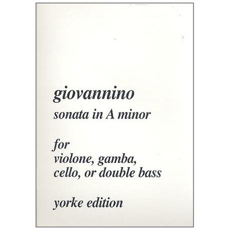 Giovannino, »del Violone«: Sonate a-moll