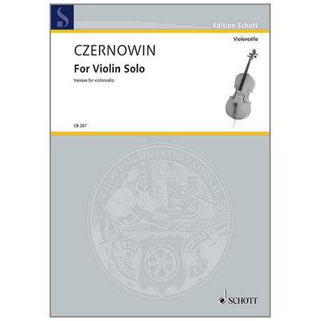 Czernowin, C.: For Violin solo